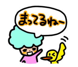 Day-to-day of Afro-chan sticker #187347