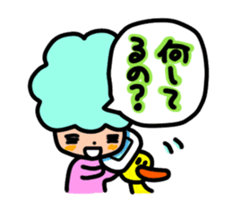 Day-to-day of Afro-chan sticker #187349