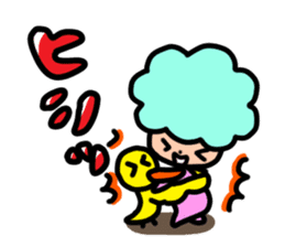 Day-to-day of Afro-chan sticker #187356