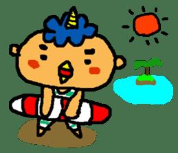"Cheep-cheep""ONITAROU"" sticker #187620"