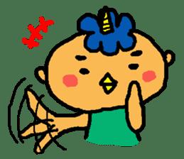 "Cheep-cheep""ONITAROU"" sticker #187626"