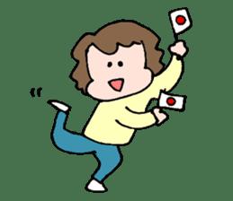 EASY-GOING GIRL sticker #188045