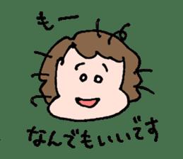 EASY-GOING GIRL sticker #188070