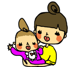 mama and baby sticker #188241