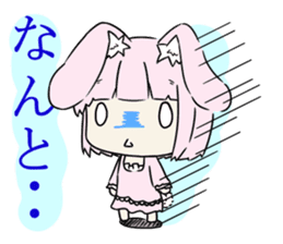 Relaxed rabbit sticker #190068