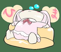 Relaxed rabbit sticker #190079