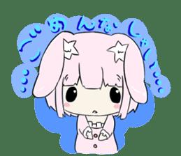 Relaxed rabbit sticker #190081