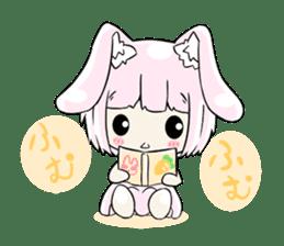 Relaxed rabbit sticker #190082