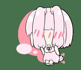 Relaxed rabbit sticker #190088