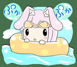 Relaxed rabbit sticker #190089