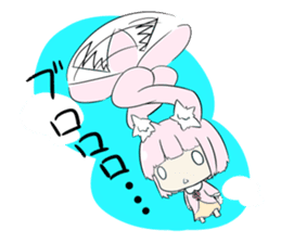 Relaxed rabbit sticker #190100