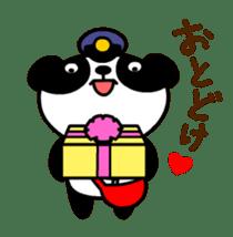 Mailman of the panda sticker #190162