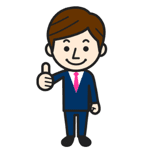 Happy smiling business people sticker #192585