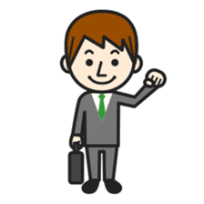 Happy smiling business people sticker #192615