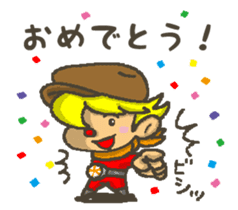 Earth hero babble-chans40 sticker #193463