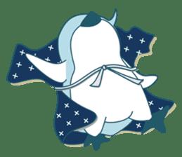 Sleepy Penguin in Summer sticker #194508