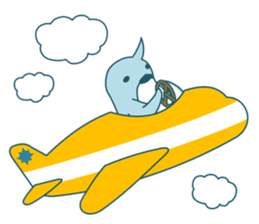 Sleepy Penguin in Summer sticker #194519