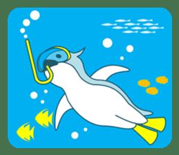 Sleepy Penguin in Summer sticker #194534