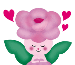 funny flowers sticker #195275