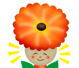 funny flowers sticker #195276