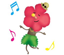 funny flowers sticker #195281