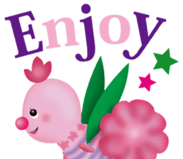 funny flowers sticker #195282