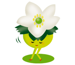 funny flowers sticker #195301