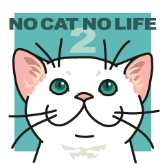 NO CAT NO LIFE Satowo cat stamp2