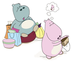Big Blue The Hungry Hippo sticker #197188