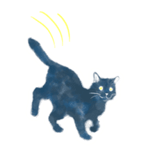Stamps of blue cat sticker #197689