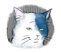 Stamps of blue cat sticker #197705
