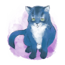 Stamps of blue cat sticker #197706