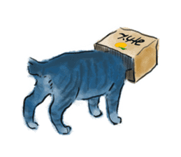 Stamps of blue cat sticker #197707