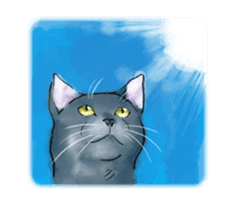 Stamps of blue cat sticker #197711