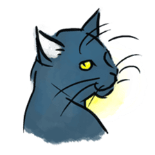 Stamps of blue cat sticker #197713