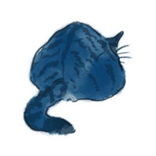 Stamps of blue cat sticker #197715