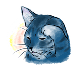 Stamps of blue cat sticker #197717