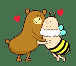 "Sausage Friends ""Bee & Bear"" sticker #197965"
