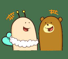 "Sausage Friends ""Bee & Bear"" sticker #197971"