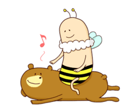 "Sausage Friends ""Bee & Bear"" sticker #197976"