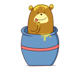 "Sausage Friends ""Bee & Bear"" sticker #197999"