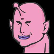 สติ๊กเกอร์ไลน์ Pink Alien