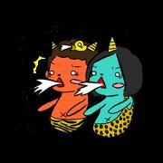 สติ๊กเกอร์ไลน์ Aoni and Akani
