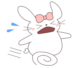 Ribbon of the rabbit sticker #199548