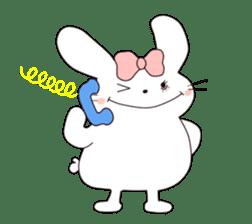Ribbon of the rabbit sticker #199568