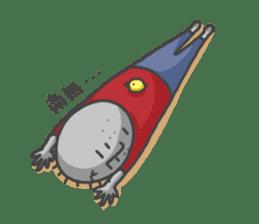 ojizousan and little bird sticker #199745
