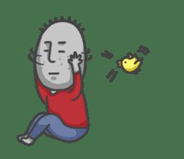 ojizousan and little bird sticker #199749