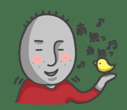 ojizousan and little bird sticker #199756