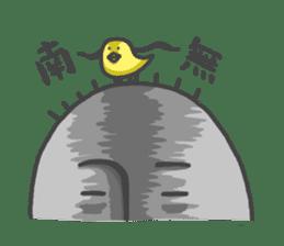 ojizousan and little bird sticker #199758
