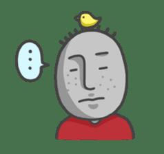ojizousan and little bird sticker #199762